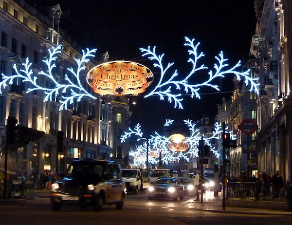 Oxford Circus. Christmas 2012.