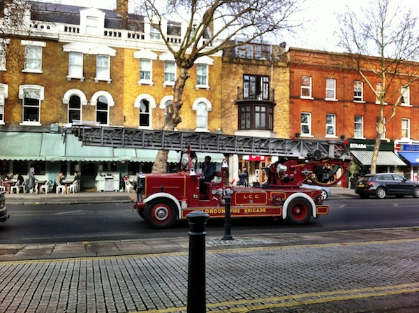 An old-timey fire engine viewed from my local on Saturday. Enjoy the irony of me taking a phone photo of it and sharing that with the internet.