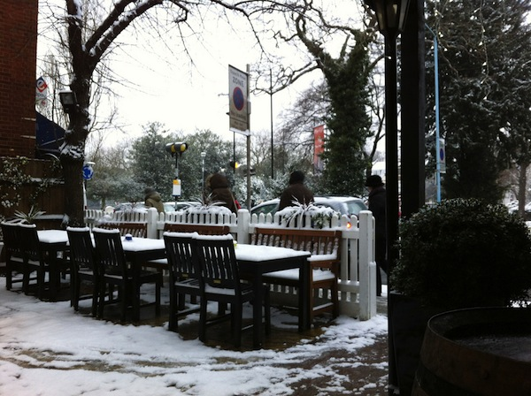 My local in the snow. Hopefully Tolkien-approved.