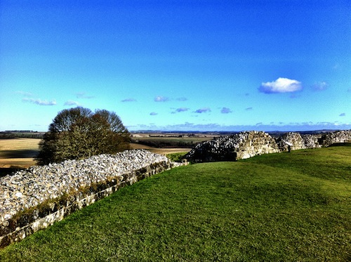 The view north east from Old Sarum.