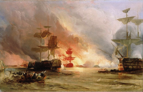 Oil-Study-The-Bombardment-of-Algiers-27-August-1816-by-George-Chambers-Senior