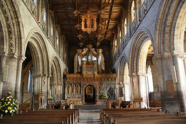 Interior of St David's Cathedral. Wales.