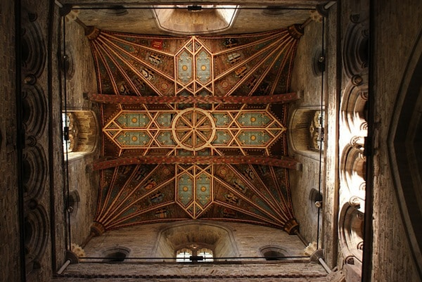 The ceiling of St David's tower.