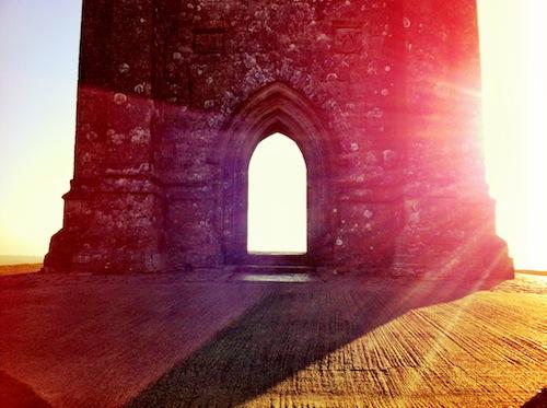 Glastonbury Tor yesterday morning