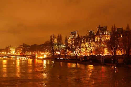 Paris in Feb. Called The City of Light for some reason.