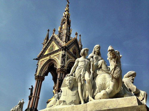 'Africa', with the Albert Memorial behind it.
