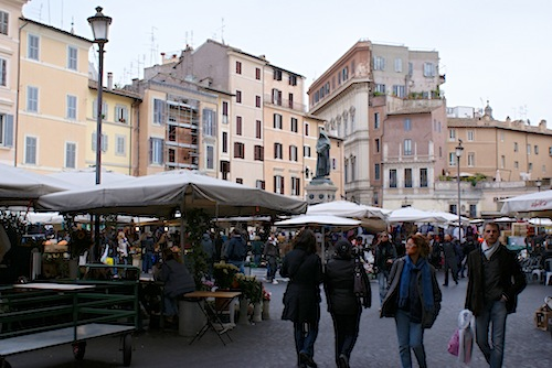 Campo di Fiori from our last trip to Rome.
