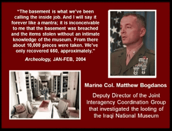 Quote about looting of Baghdad Museum