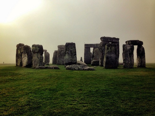Stonehenge on a misty Wednesday morning
