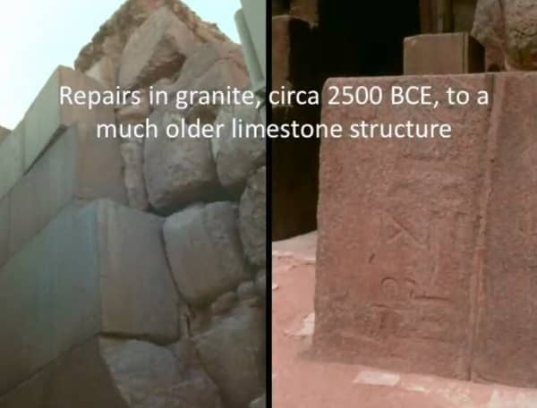 The so-called 'Sphinx temple', which evidently needed extensive repairs in granite to a limestone structure built less than a century before? Of course.